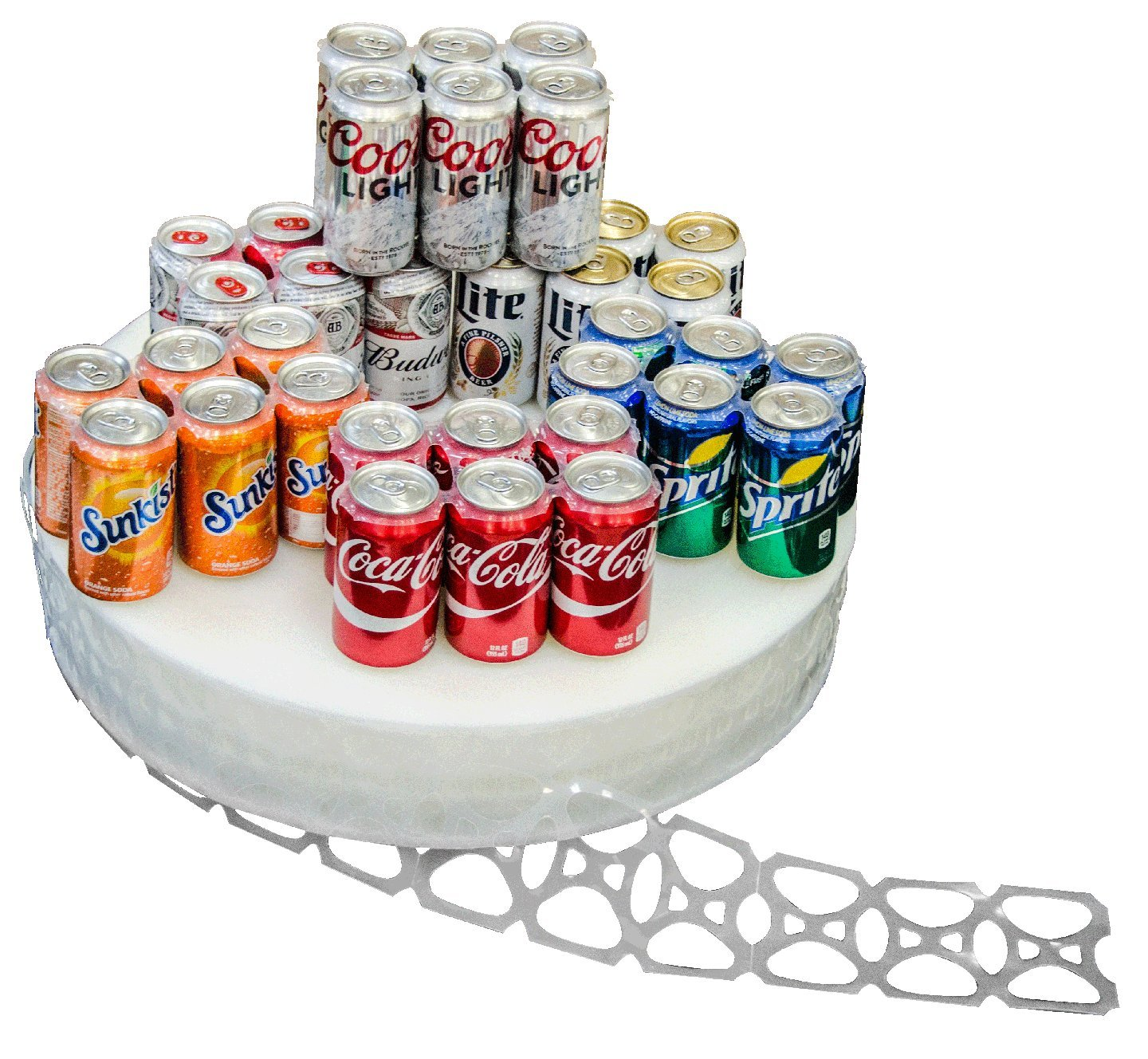4300 Count Roll 6-Pack Rings Universal Fit - Fits all 12oz Beer Soda Cans by C-STORE PACKAGING