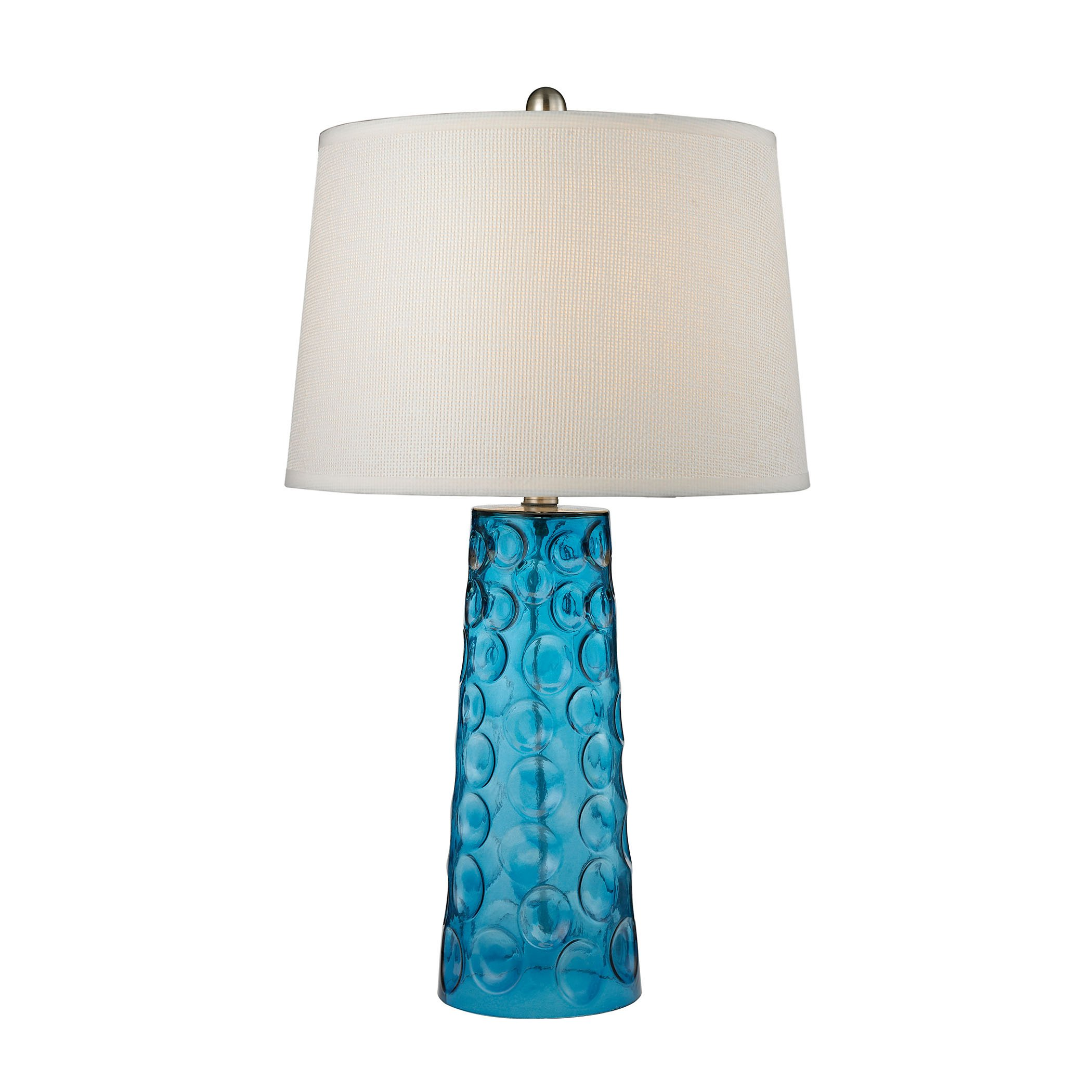 Dimond D2619 Lighting Hammered Glass Table Lamp, 15'' x 15'' x 27''