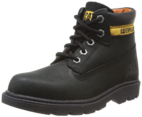Caterpillar Colorado Burnish Brights - Botas de Cuero Unisex niños, Negro - Noir, Jaune