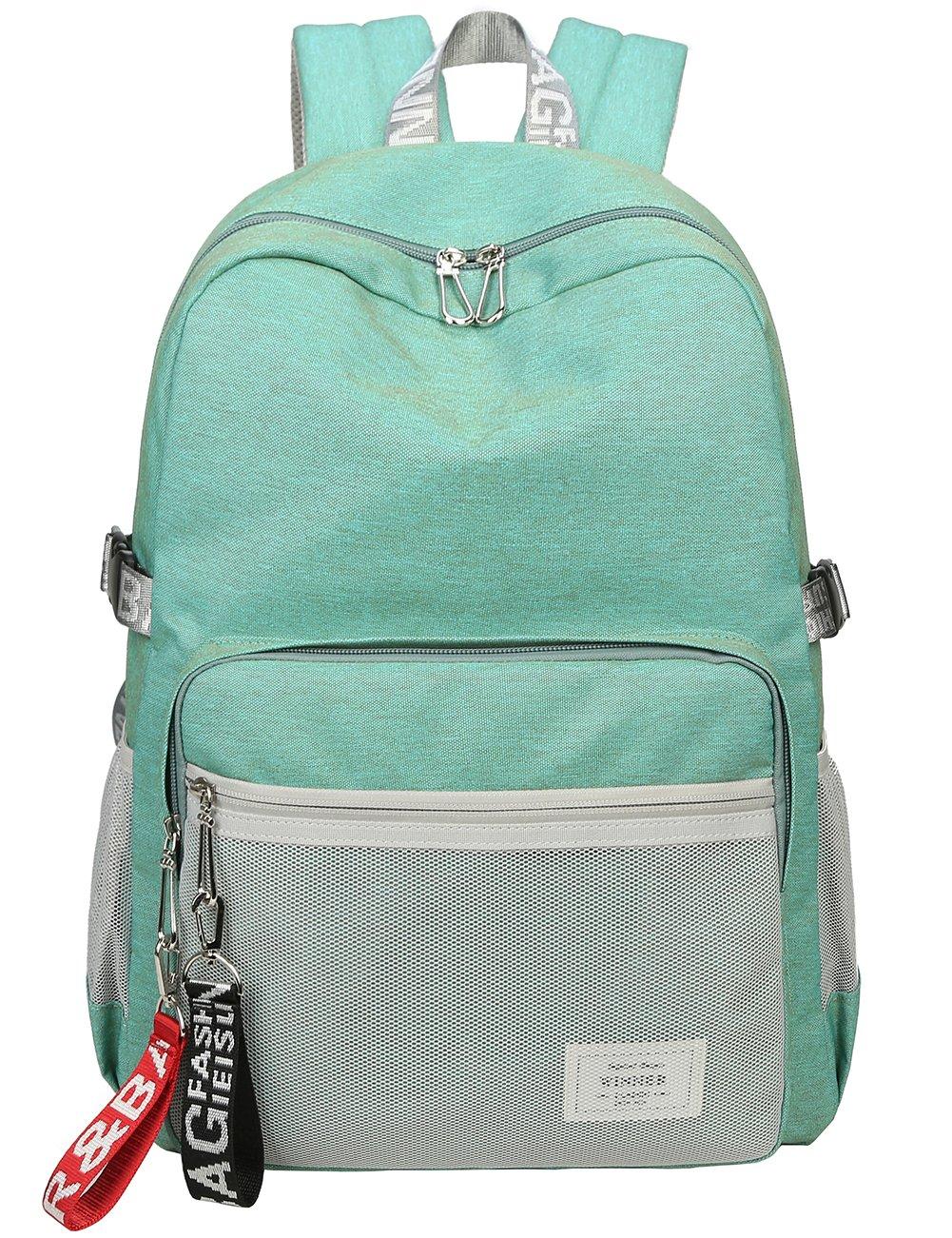 Classic Backpack Haversack Travel School Bag Student Simple Daypack Bookbag by Mygreen(Light Green) by mygreen