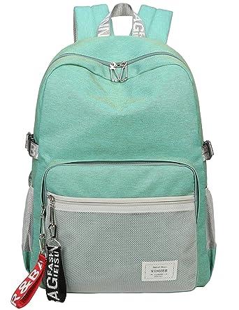 480fc91455 Classic Backpack Haversack Travel School Bag Student Simple Daypack Bookbag  by Mygreen(Light Green)