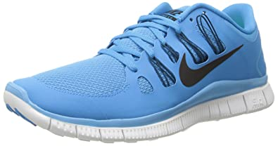 Nike Mens Free 5.0+ Breathe Running Vivid BlueGreen AbyssSummit White