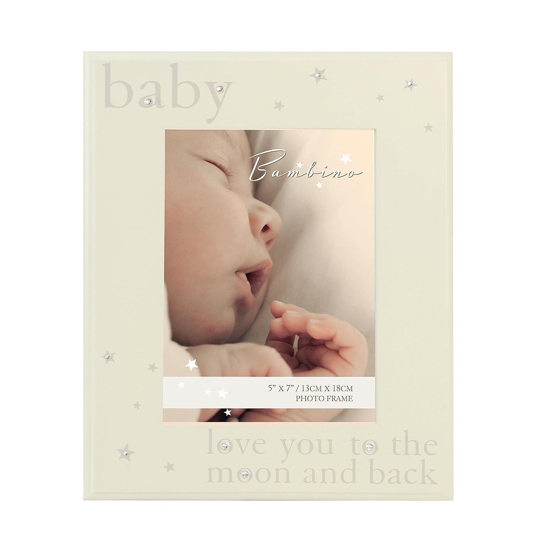 Baby Bilderrahmen Mit Kristall Glitzer Steinchen Bzw. Sternen \