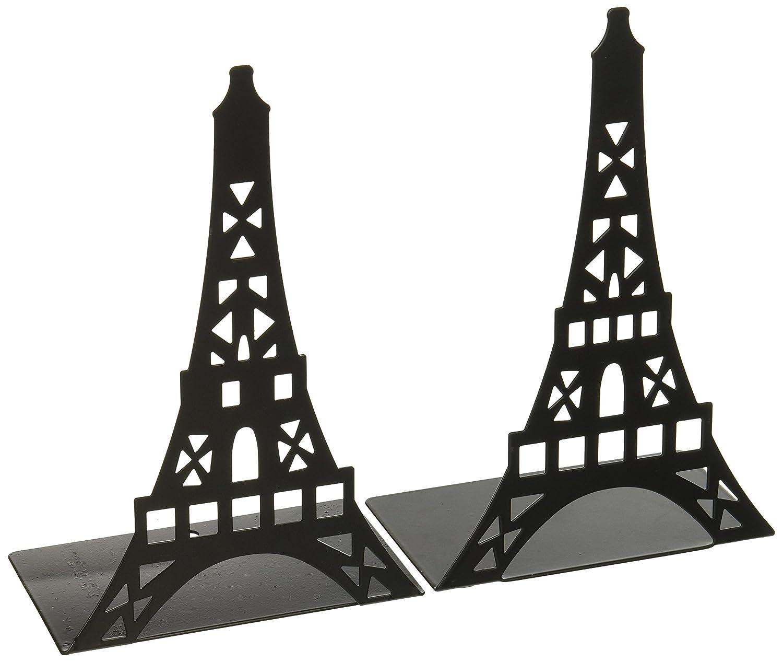 Fasmov Eiffel Tower Nonskid Bookends Art Bookend,1 Pair (black) EiffelBookends-black