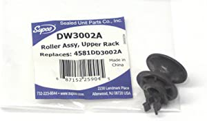 Supco Dishwasher Upper Rack Roller and Axle for LG, 4581DD3002A, DW3002A