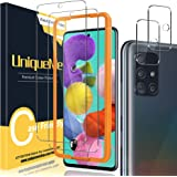 [2+2 Pack] UniqueMe Camera Lens Protector and Screen Protector for Samsung Galaxy A51,Tempered Glass [Easy Installation…