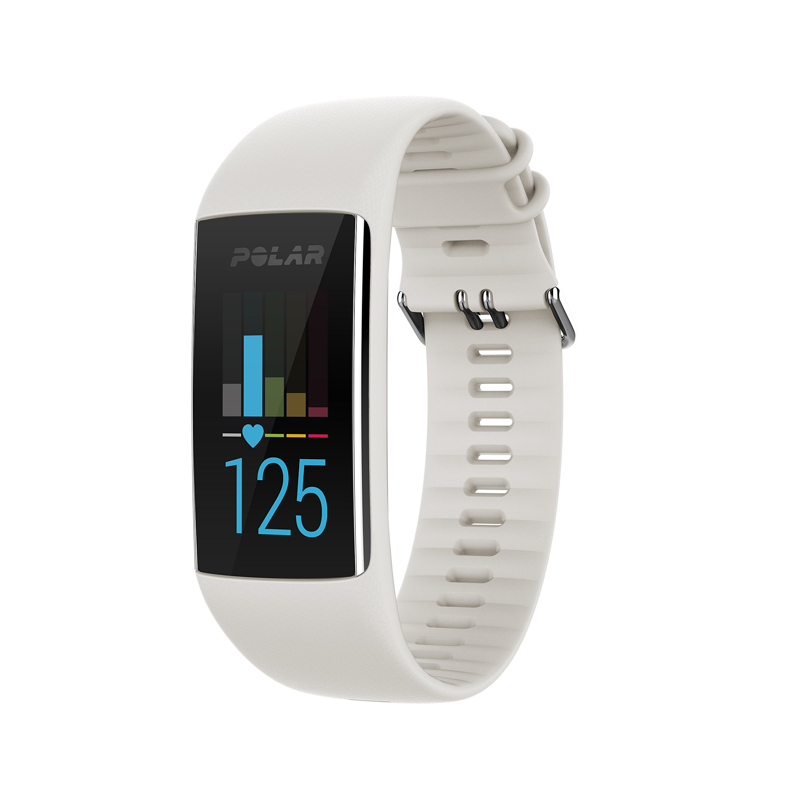 Polar A370 Fitness Tracker with 24/7 Wrist Based Heart Rate White, Medium/Large