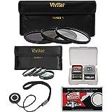 Vivitar 82mm 7-Piece Multi-Coated HD UV/CPL/ND8 & 4 Macro Filter Set + Accessory Kit