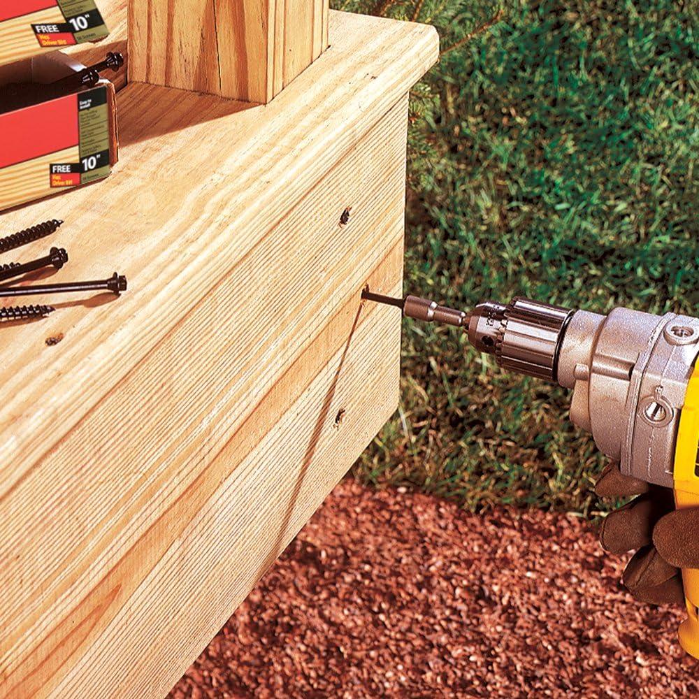 12-Count FastenMaster FMTLOK212-12 TimberLOK Heavy-Duty Wood Screw 2-1//2 Inches