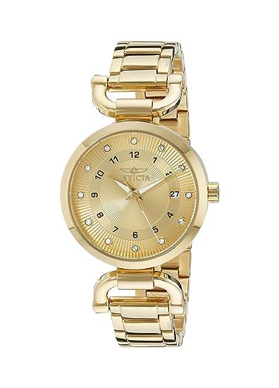 3dd837e6bdd Invicta 16225 Reloj Analógico con Movimiento de Cuarzo para Mujer ...
