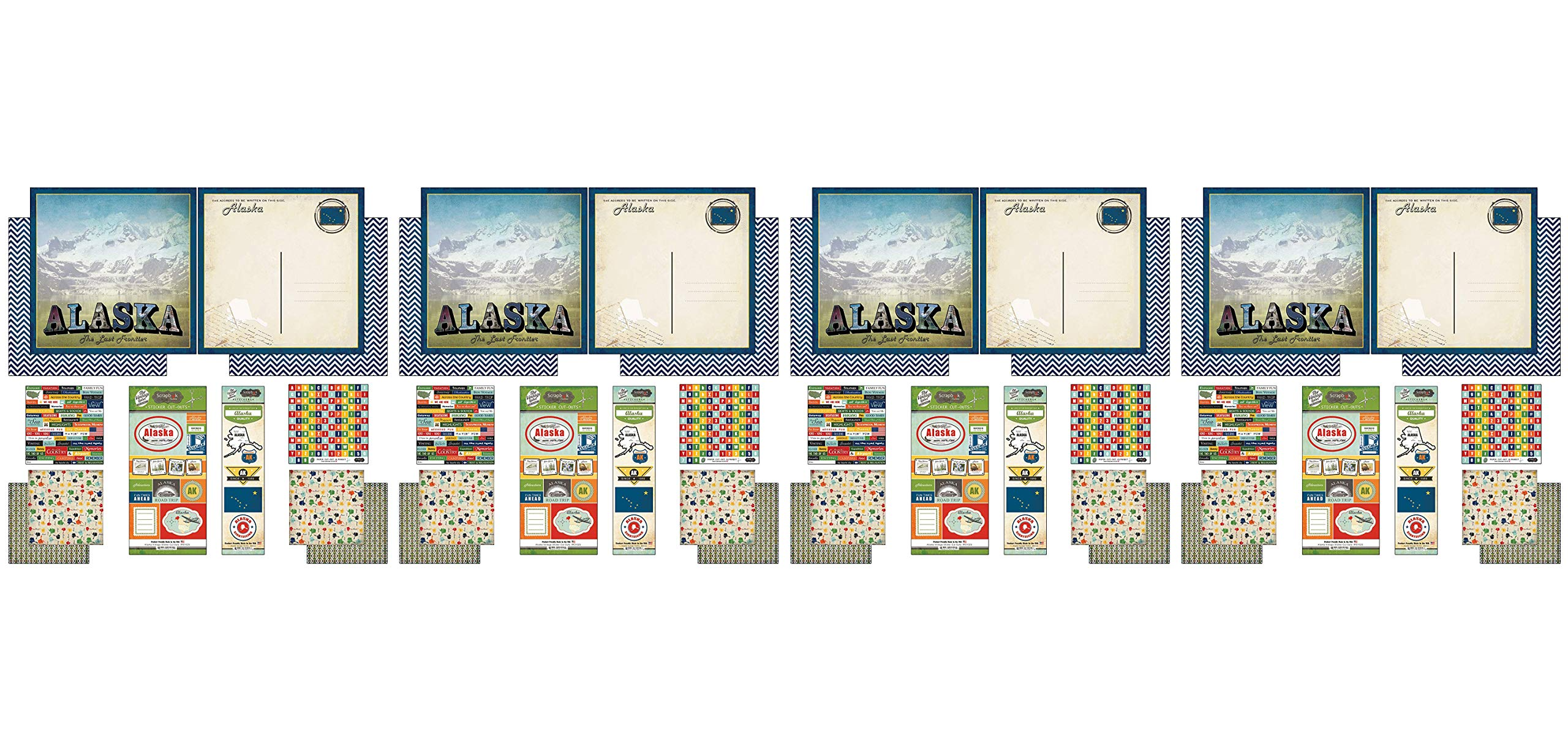Scrapbook Customs Themed Paper and Stickers Scrapbook Kit, Alaska Vintage (Fоur Paсk)