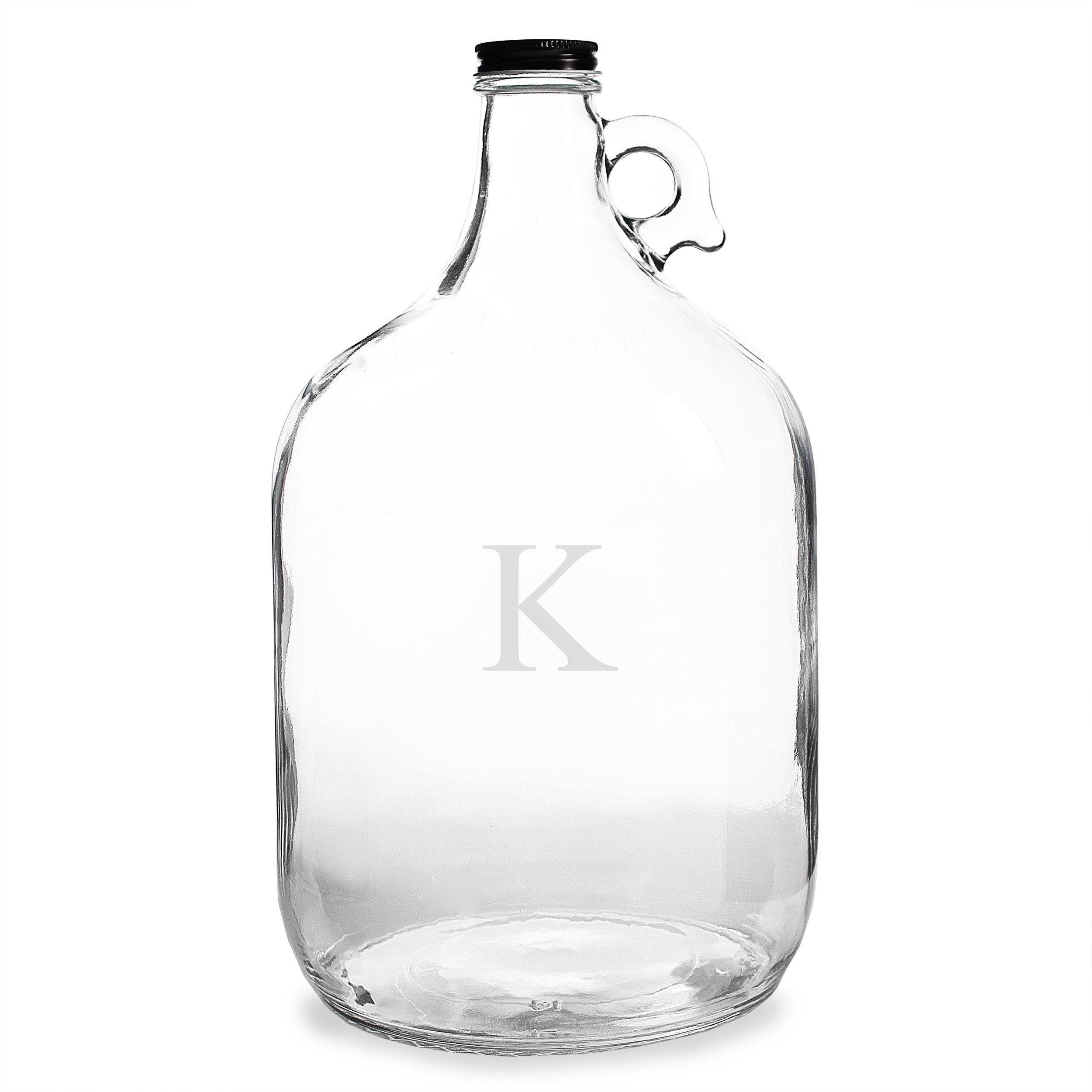 Cathy's Concepts Personalized One Gallon Growler, Letter K