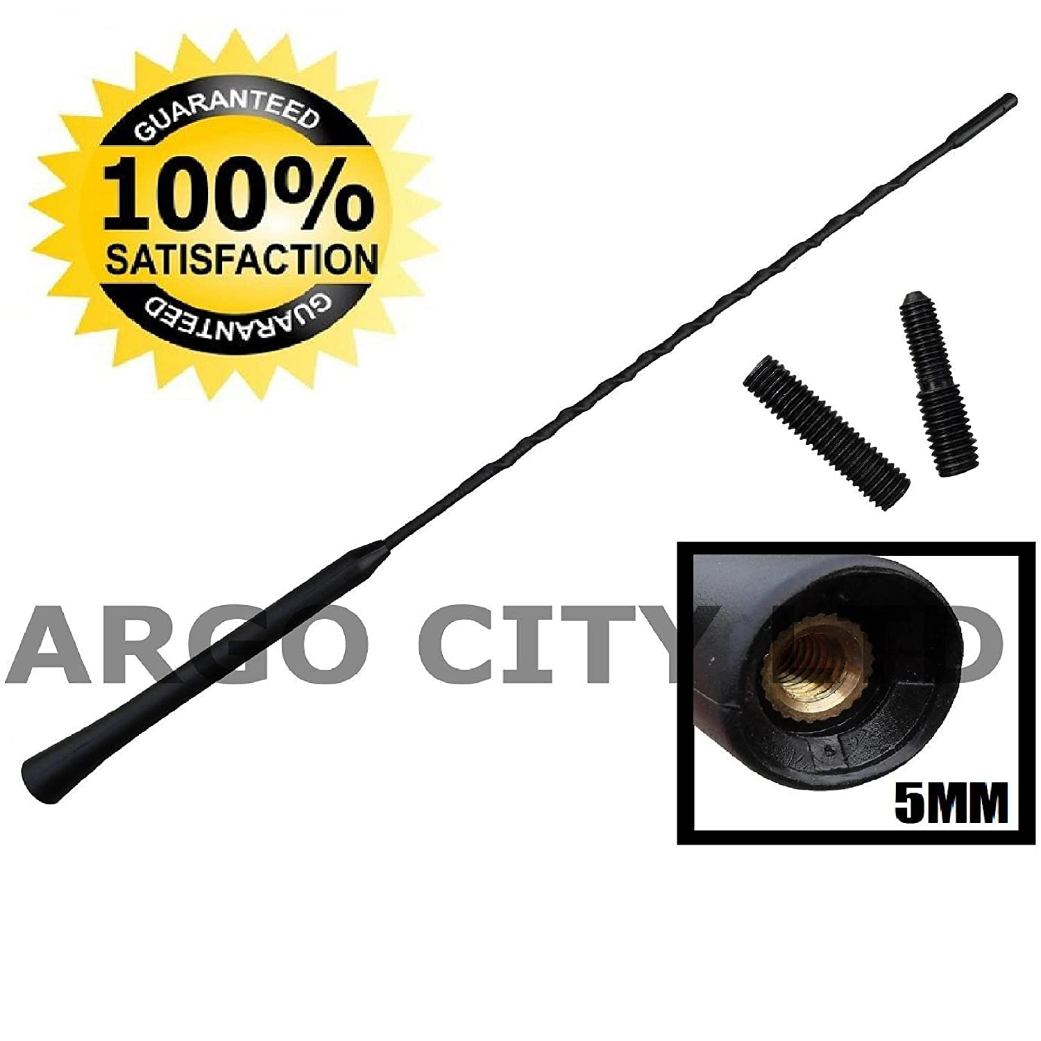 RUBBER BLACK REPLACEMENT BEE STING AERIAL ANTENNA MAST CITROEN DS3 Argo City LTD