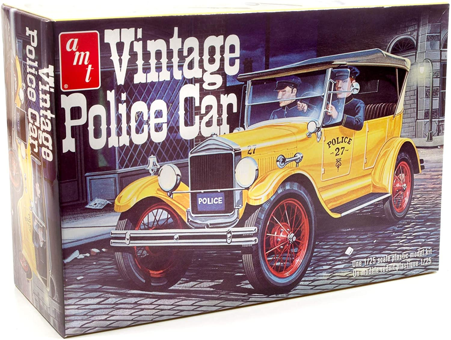 AMT 1927 Ford T Vintage Police Car 1//25 Scale Replica Plastic Model Kit