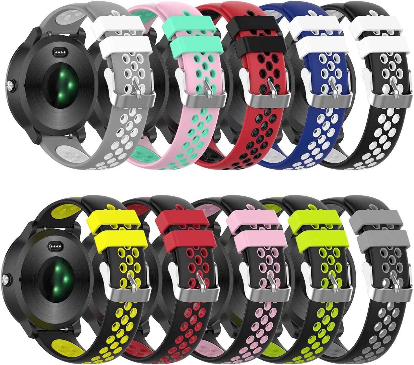 10 Mallas Para Reloj Garmin Vivoactive 3/vivomove/hr