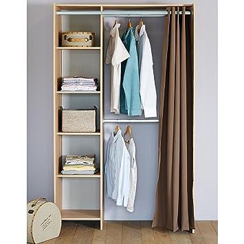 Kit one Kti d\'aménagement placard ou dressing avec rideau: Amazon.fr ...