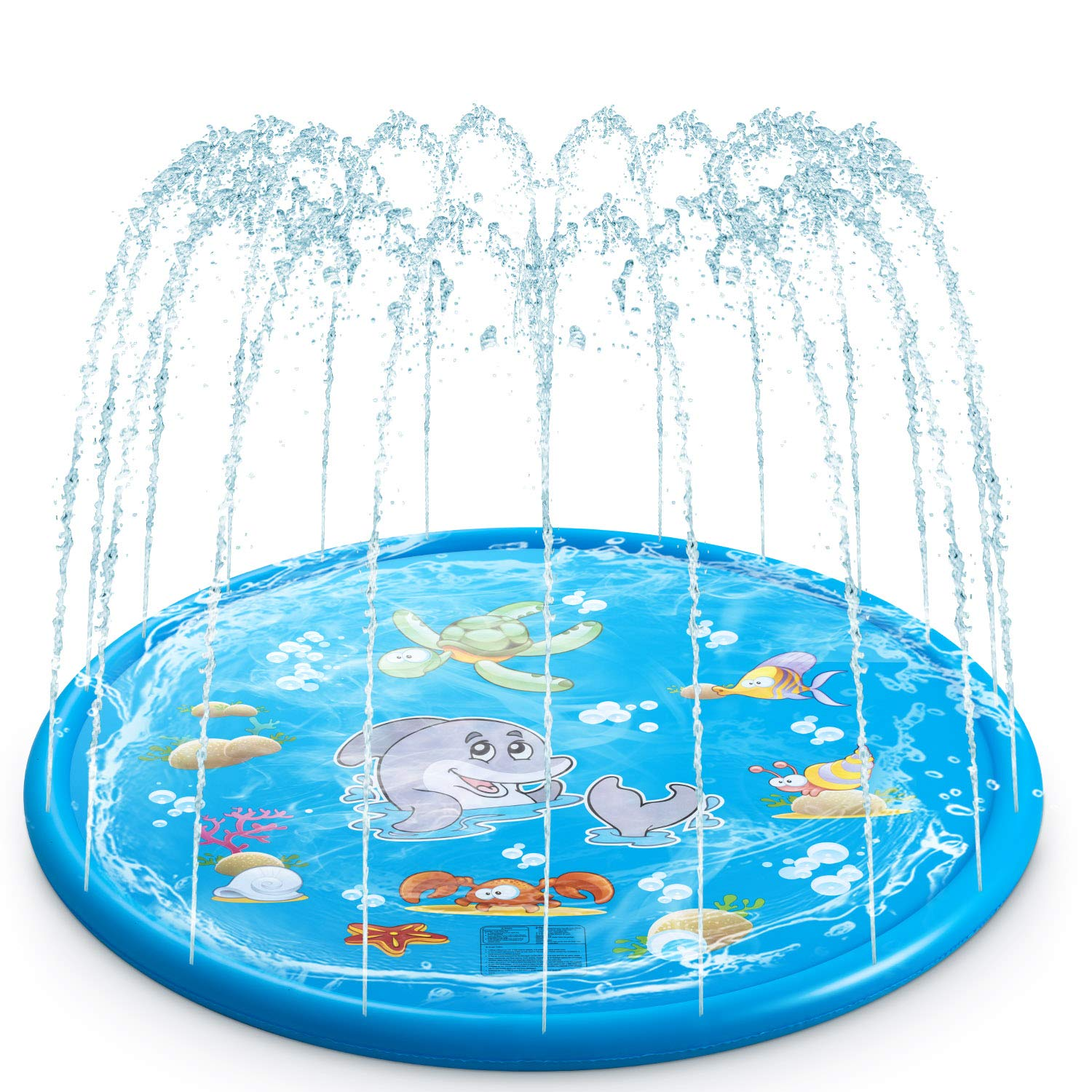 Water Baby Water Sprinkler Pad for Kids, Upgraded 68' Summer Outdoor Water Toys Wading Pool Splash Play Mat for Toddlers Baby, Outside Water Play Mat for 1-12 Years Old Children Boys Girls by Water Baby