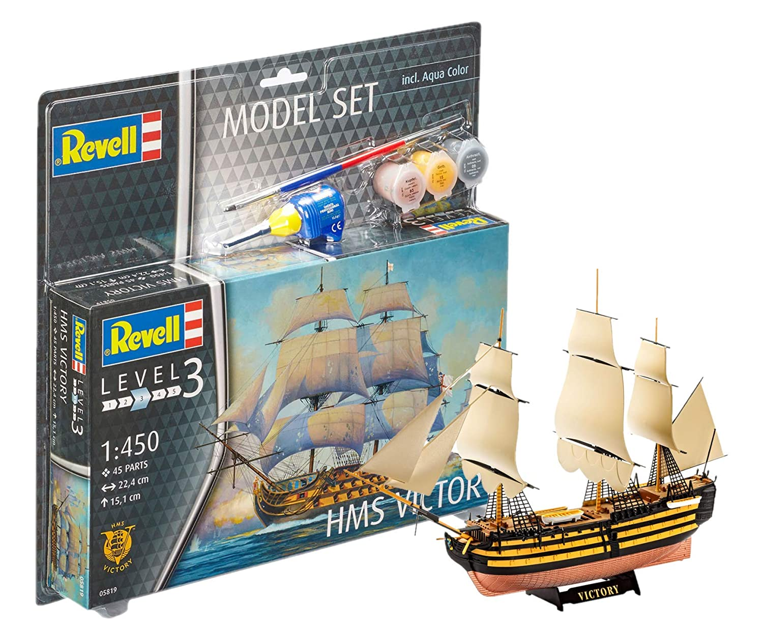 Amazon.com: Revell Revell65819 Hms Victory Model Set (45 ...