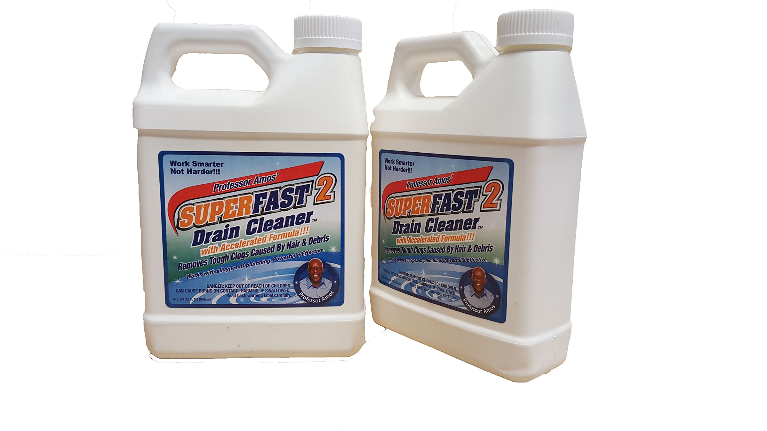 2-pack: Professor Amos' Superfast Drain Cleaner - 32oz Each