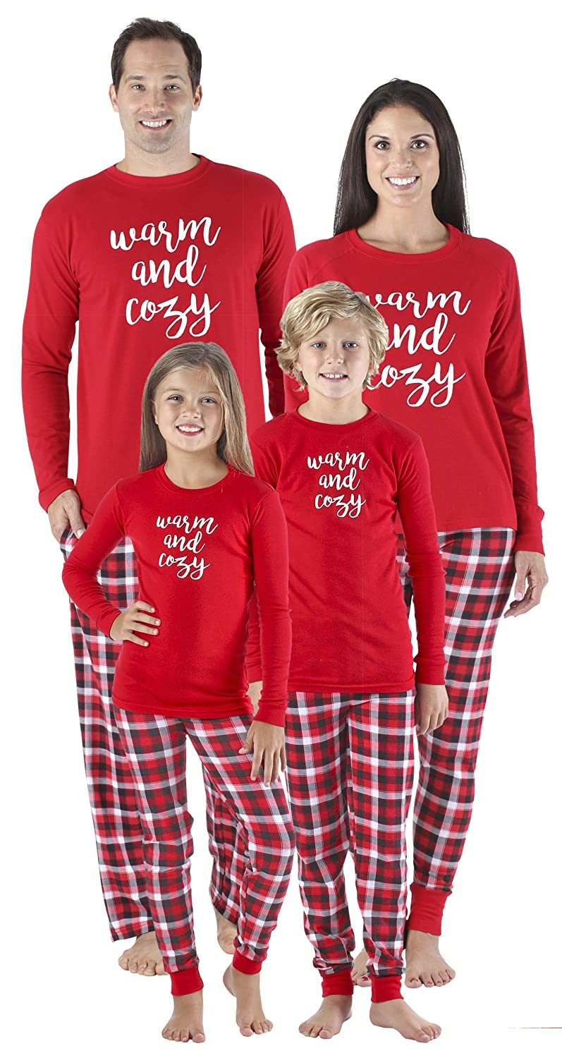0383959823 SleepytimePjs Family Matching Sleepwear Knit Holiday Mix and Match Pajamas  PJs Collection