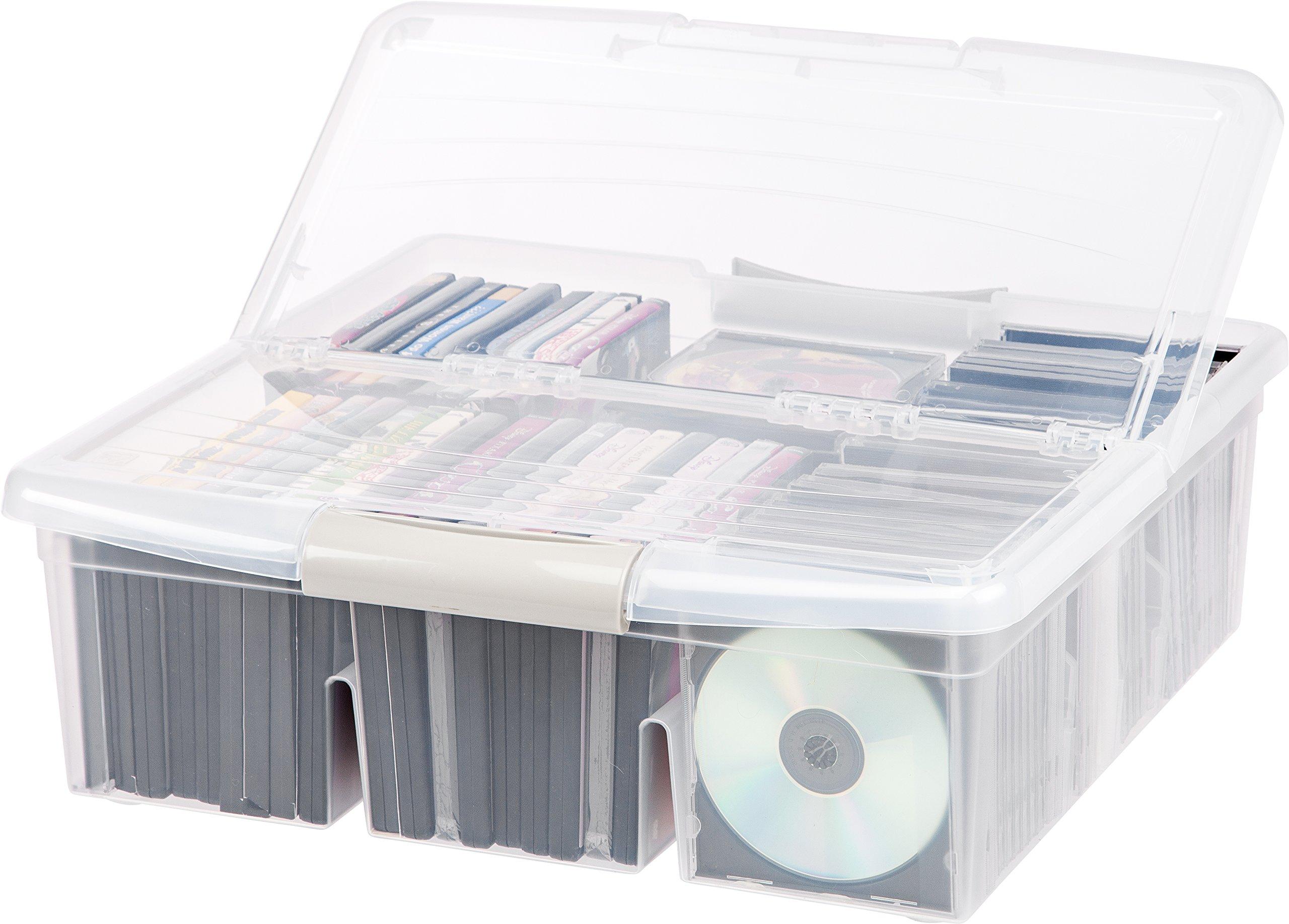 IRIS Large Divided Media Storage Box, Clear by IRIS USA, Inc. (Image #3)