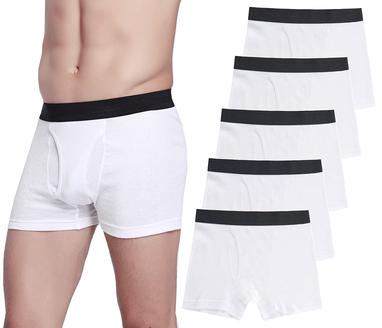 b4c22bb9a471 CYZ Men's 5-Pack Comfortable Cotton Boxer Brief at Amazon Men's Clothing  store: