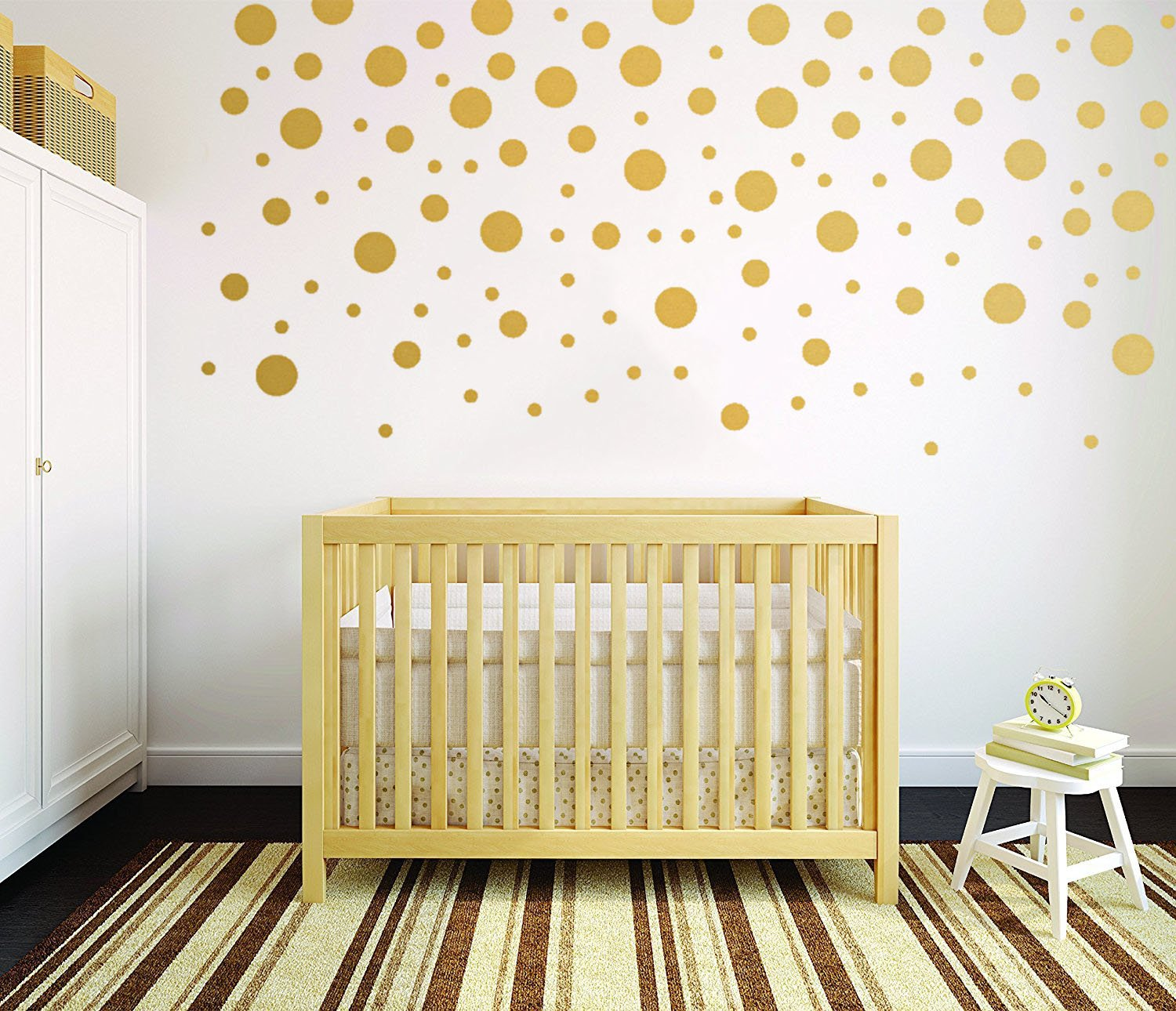 Amazoncom Gold Wall Decal Dots(120Pcs) Vinyl Removable Art Round Stickers