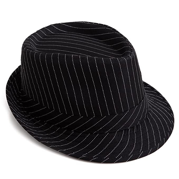 a2e91538b HDE Pinstripe Houndstooth Stingy Short Brim Fedora Gangster Cuban Style Hat  Cap