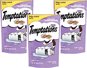 Whiskas Temptations Creamy Dairy Cat Treats 3oz (Pack of 3)