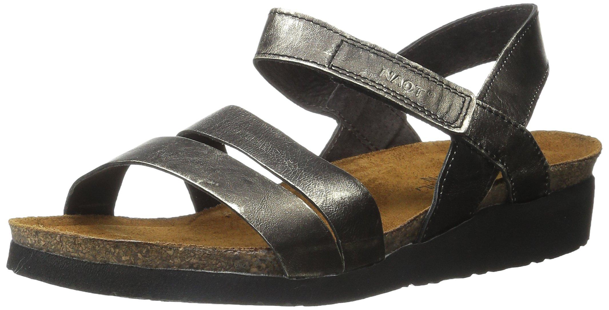 Naot Women's Kayla Wedge Sandal, Metal Leather, 37 EU/6 M US