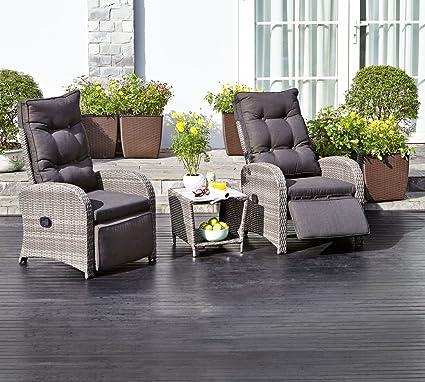 JYSK STORD - Silla reclinable de jardín, color gris: Amazon ...