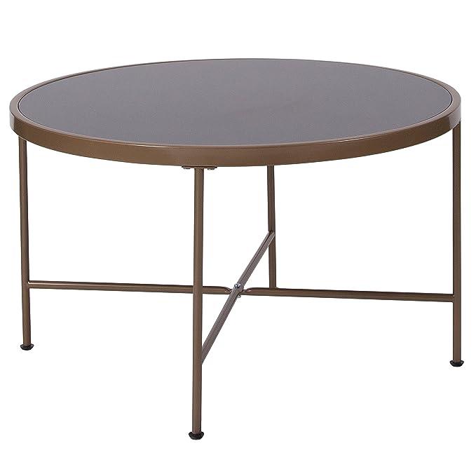 Amazoncom Flash Furniture Chelsea Collection Black Glass Coffee - Flash furniture coffee table