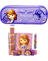 Disney Princess Sofia Pencil Case with Stationery Set - Lavender
