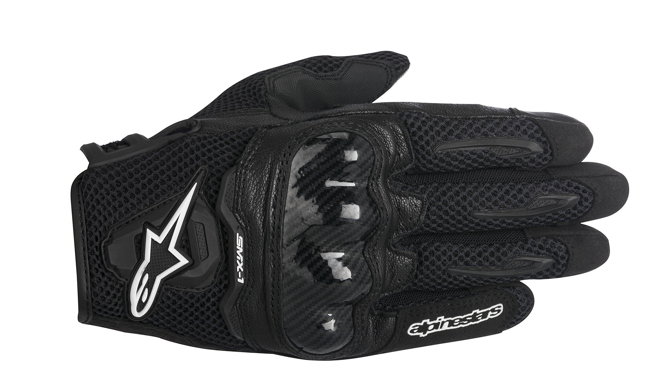 Alpinestars SMX-1 Air Men's Street Motorcycle Gloves - Black / Medium
