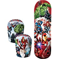 """Hedstrom Avengers Bop Combo Inflatable Punching Bags and Gloves, 36"""", Red"""