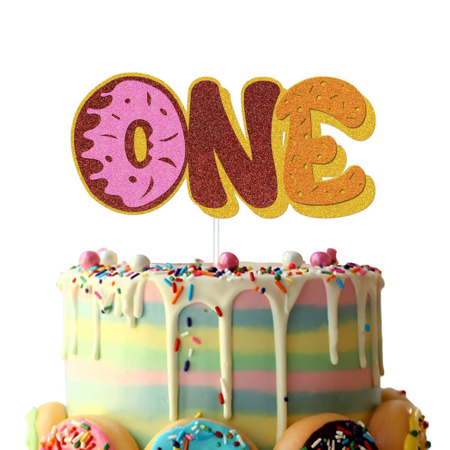 Birthday Party,Donut Grow Up First Birthday ANY COLOR Sweet One Glitter CakeDonut Topper Dessert Table Decor Donut Wall Display
