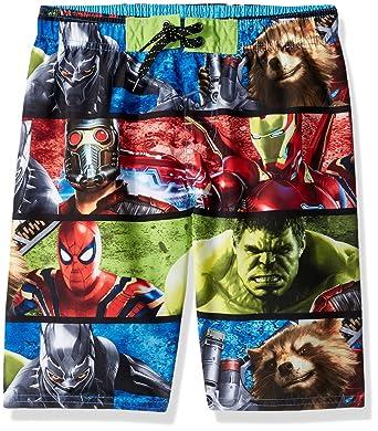 c5d395eae8 Amazon.com: Marvel Boys' Big Infinity War Swim Shorts: Clothing