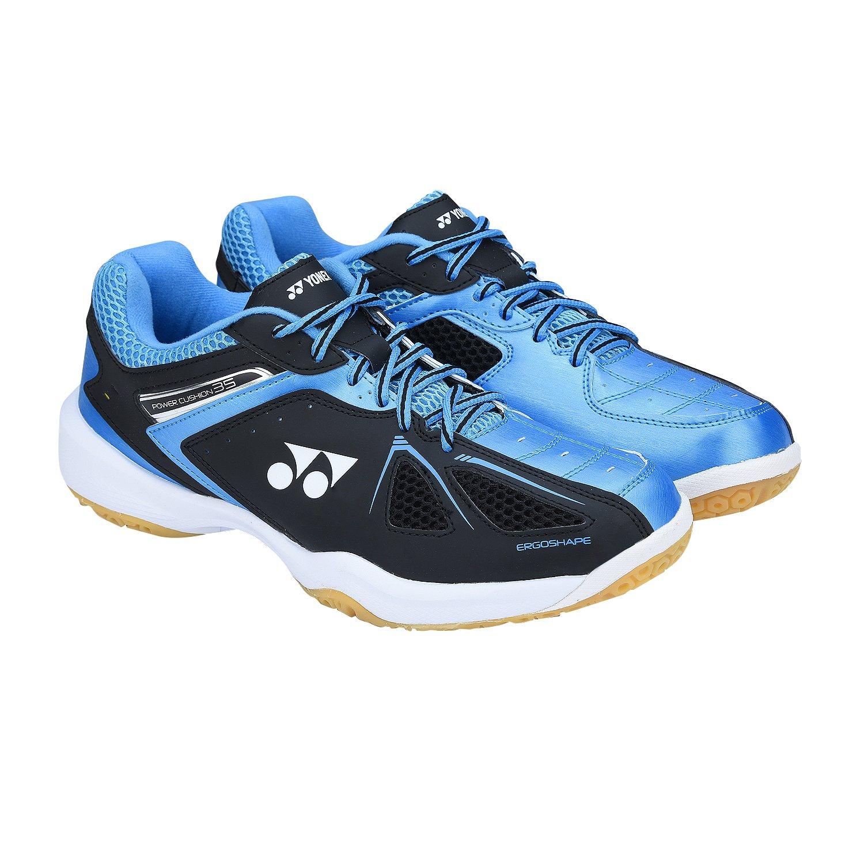 White//Sky Blue Yonex SHB35 Power Cushion 35 Badminton Shoes