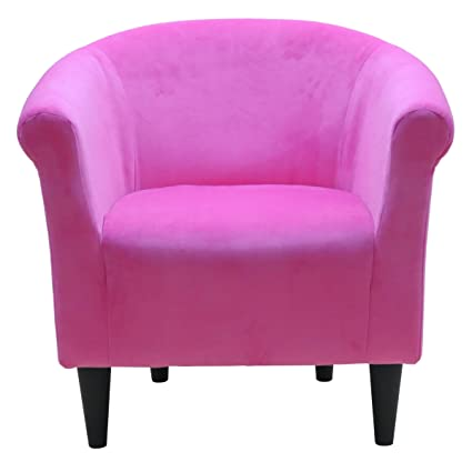 Amazon.com: Liam Barrel Chair, Barrel Accent Chair (Pink): Kitchen ...