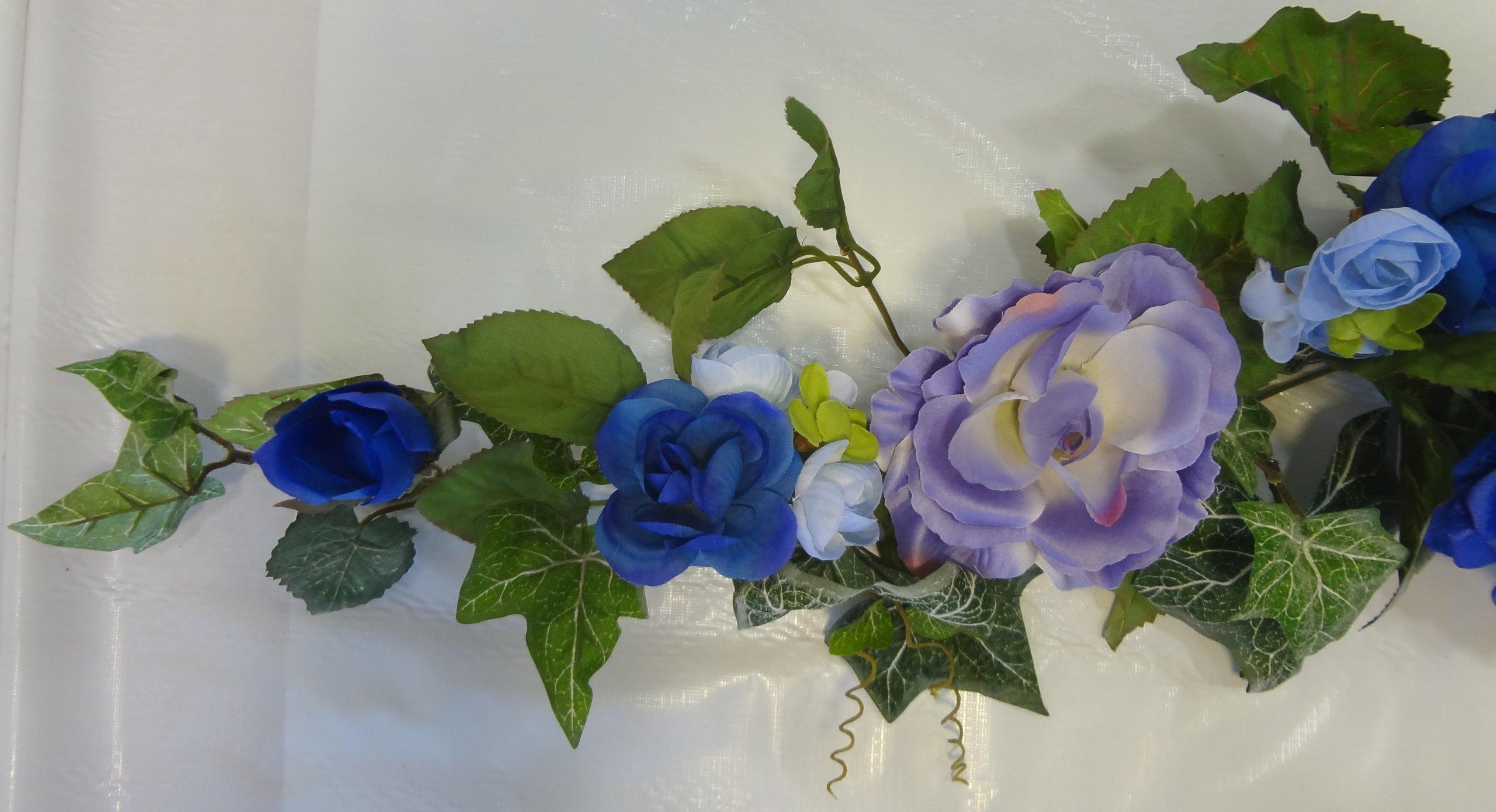 38'' Blue Rose Swag