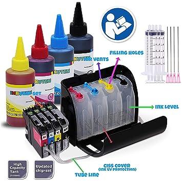 Amazon.com: Sistema de suministro de tinta continua CISS ...