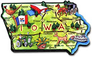 ARTWOOD MAGNET - IOWA STATE MAP
