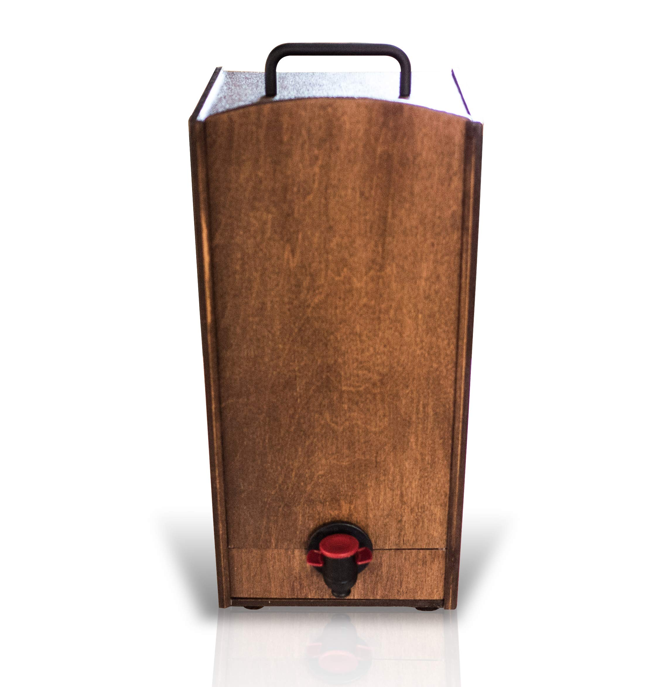 Boxed Wine Wood Case by Winewood   Walnut Color   Fits 3 Liter Boxes of Wine   Holder, Dispenser, Cover for Boxed Wine