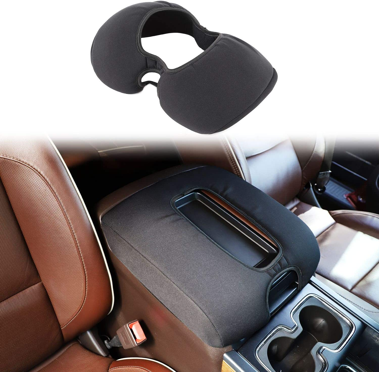 Black 1pc Voodonala for Silverado Center Console Cover Armrest Pad for 2014-2016 Chevy Silverado