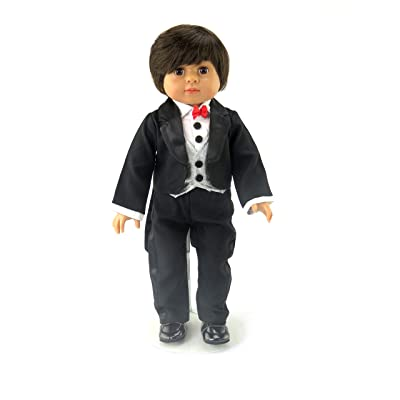 American Fashion World Cute Little Tuxedo fits 18 inch Doll: Toys & Games