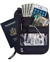 Zoppen Rfid Travel Passport Wallet Neck Holder Ultra Slim Stash Money Pouch