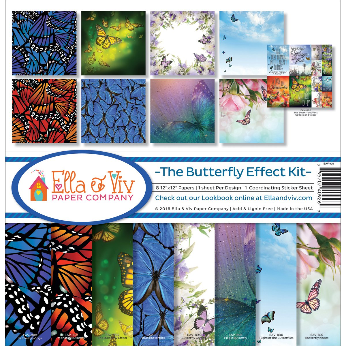 Ella & Viv by Reminisce EAV-926 Ella & Viv The Butterfly Effect Kit