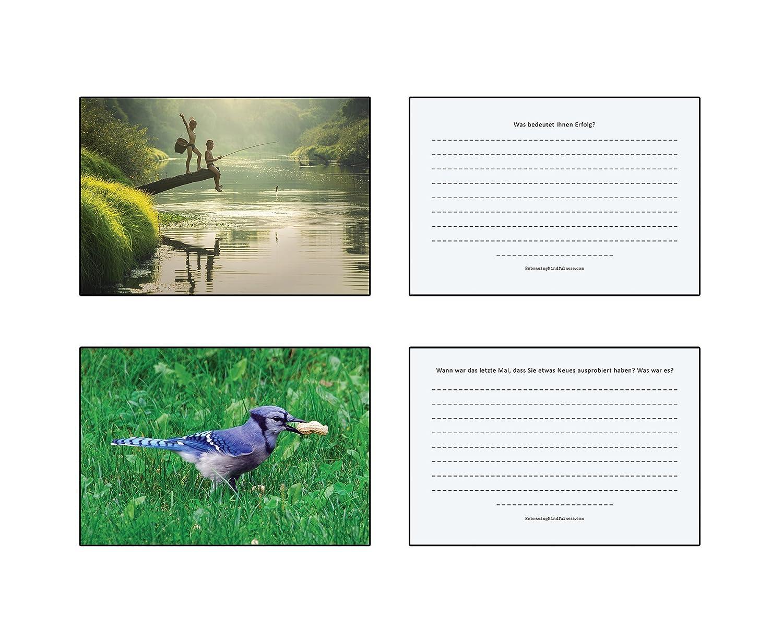 Une ann/ée d/'auto-r/éflexion /52/cartes postales avec de profondes questions pour vous m/ême/ /Prenez du temps pour vous-m/ême/ /Qui de conscience et de connaissance de soi/