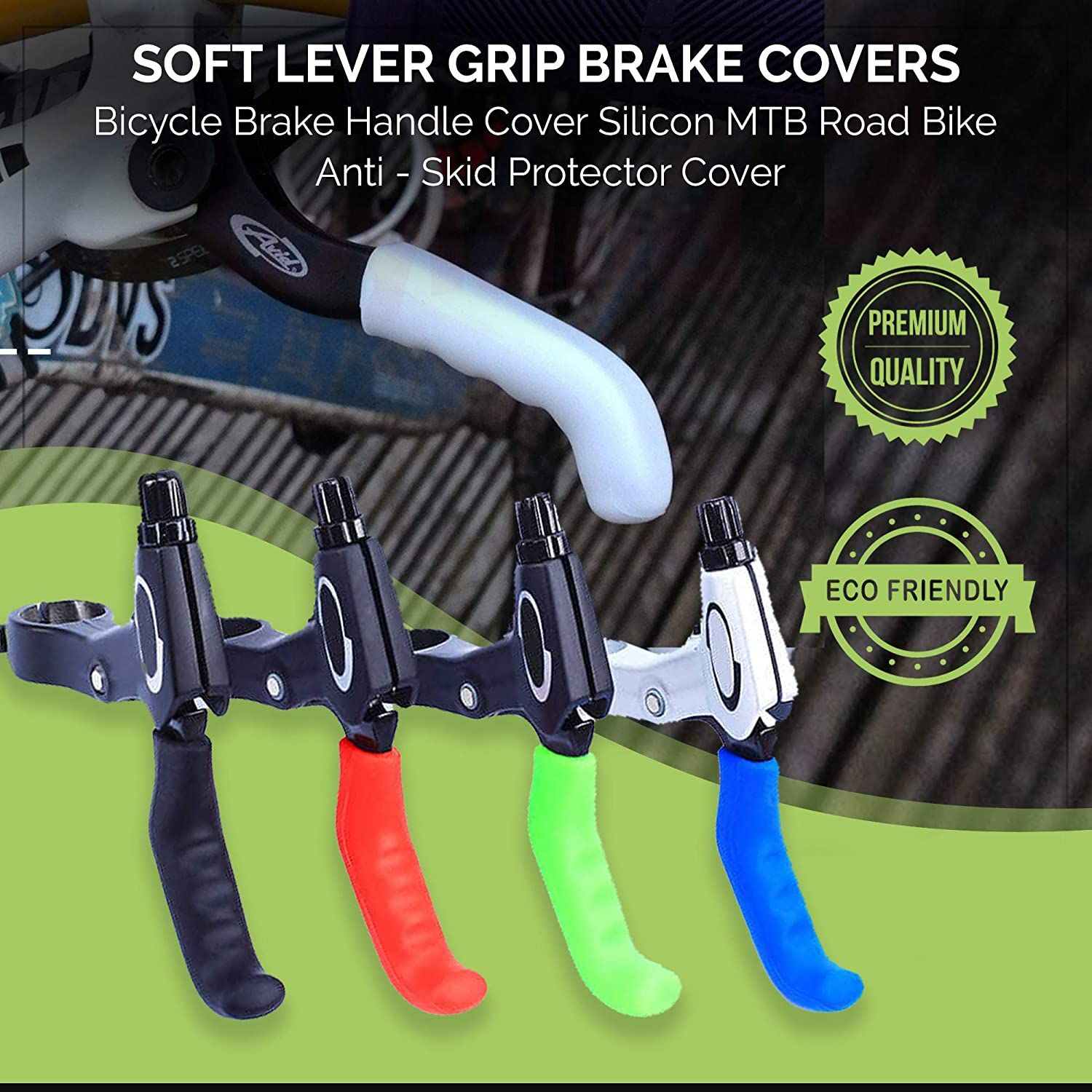 Anti-Slip Silicone Rubber Bike Brake Covers Botanique Brake Lever Grips 1 Pair Waterproof Sleeves for MTB BMX Cycle Road Mountain Bike Cycling Bicycle Multi Coloured