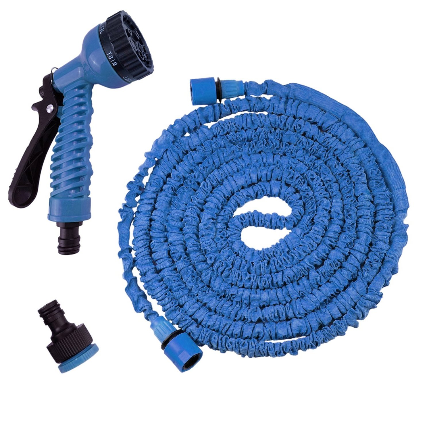 150ft Expandable Garden Hose Pipe, Anti-leakage Double Layer Expanding Hose Pipe, 600D Polyester Webbing with a 8-Pattern Spray Gun for Gardening, Watering Flowers, Washing Car, Cleaning ChunKang